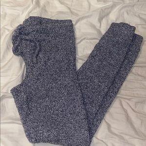 Fuzzy gray leggings
